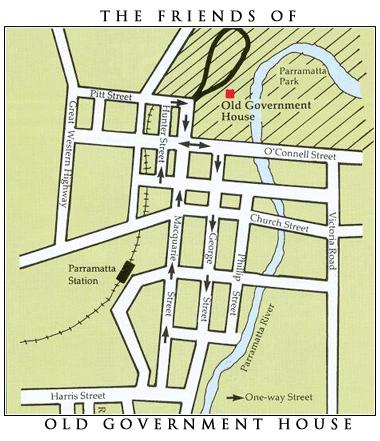 Map of Old Government House